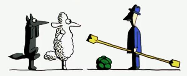 Wolf, Schaf und Kohl sind sinnlos rubicon
