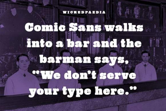 Comic Sans Bar Joke