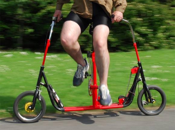 Das Seitwärtsfahrrad sidewaysbike