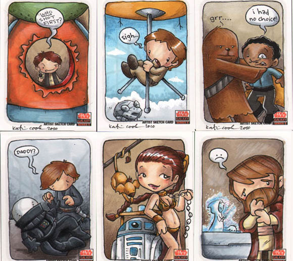 Star Wars Cards by Katie Cook starwarscards