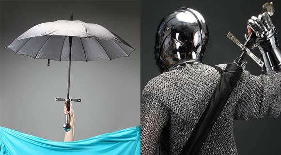 Breitschwert Regenschirm swordumbrella
