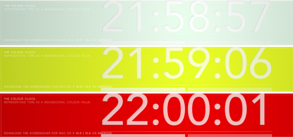 Die Hexadezimal-Farben-Uhr the_colour_clock