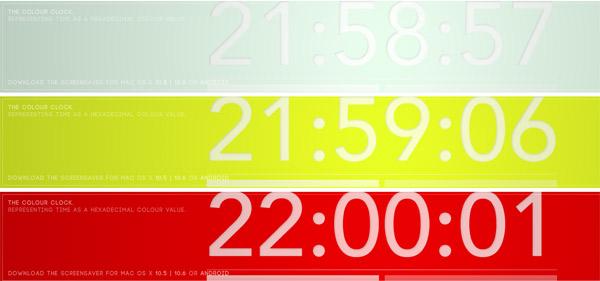 Die Hexadezimal-Farben-Uhr the_colour_clock