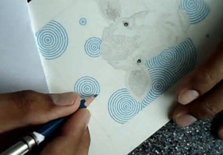 runde Kreise malen - Ein Timelapsevideo