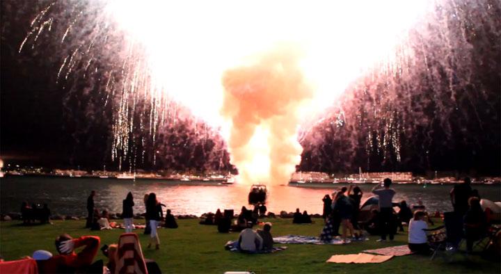 komplettes Feuerwerk in 30 Sekunden - HD sandiegofireworkfail