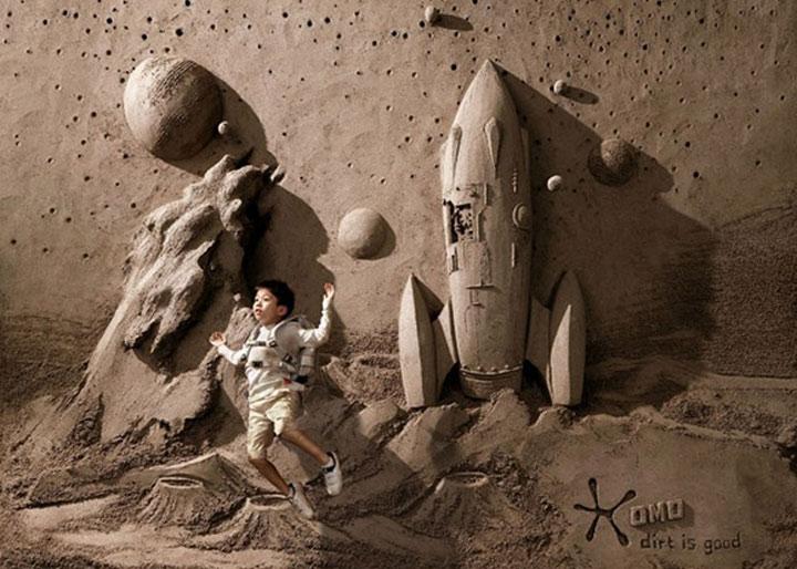 Sandskulpturgemälde-Timelapse sandskulpturentimelapse2