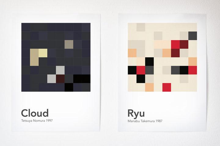 Videospielcharaktere in 64 Pixeln scrambled_videogamecharacters_02