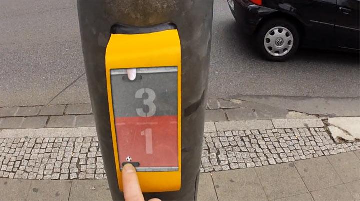 Gegen Langeweile an der Ampel: Streetpong streetpong