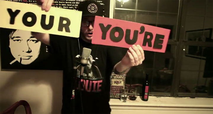 "Schneller Rap demonstriert ""You're vs. Your"" youre_vs_your_rap"