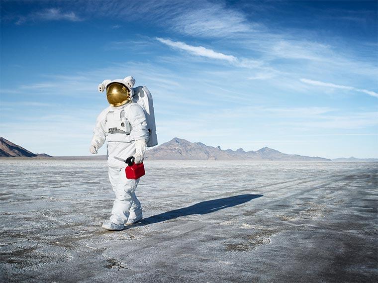 Astronauten im Alltag