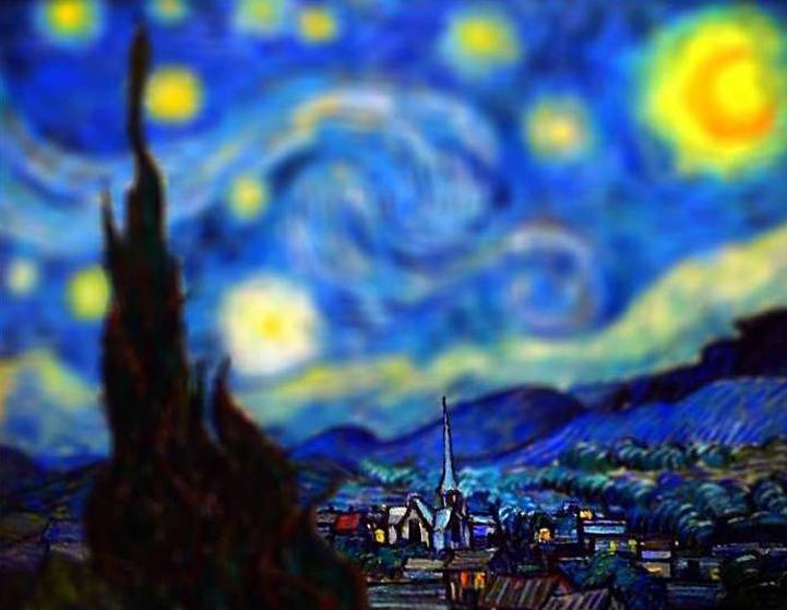 van Gogh-Bilder tilt-shifted 1082054112