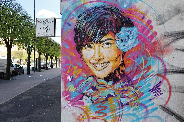 Street Art: Christian Guémy aka. C215 C215