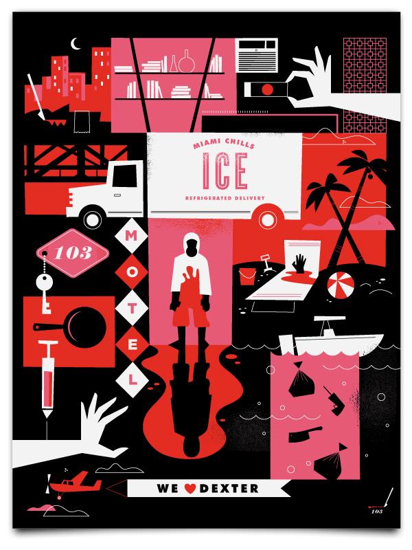 Dexter: Staffelzusammenfassende Poster