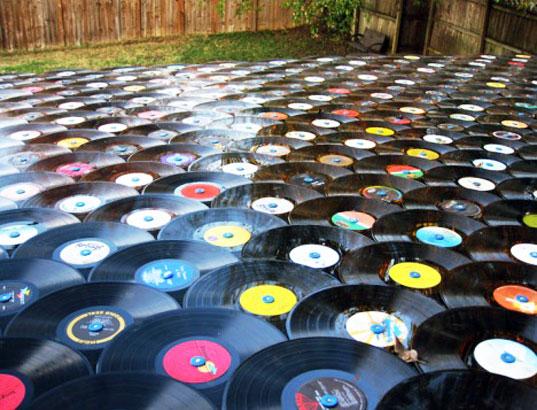 Das Vinyl-Platten-Dach vinyl-record-roof