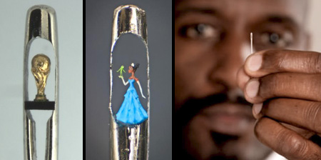 Nadelöhr-Skulpturen von Willard Wigan