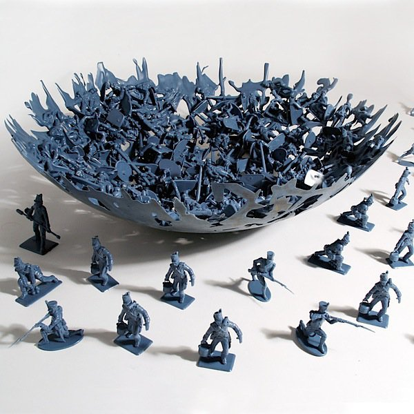 Bowl From Melted Toy Soldiers