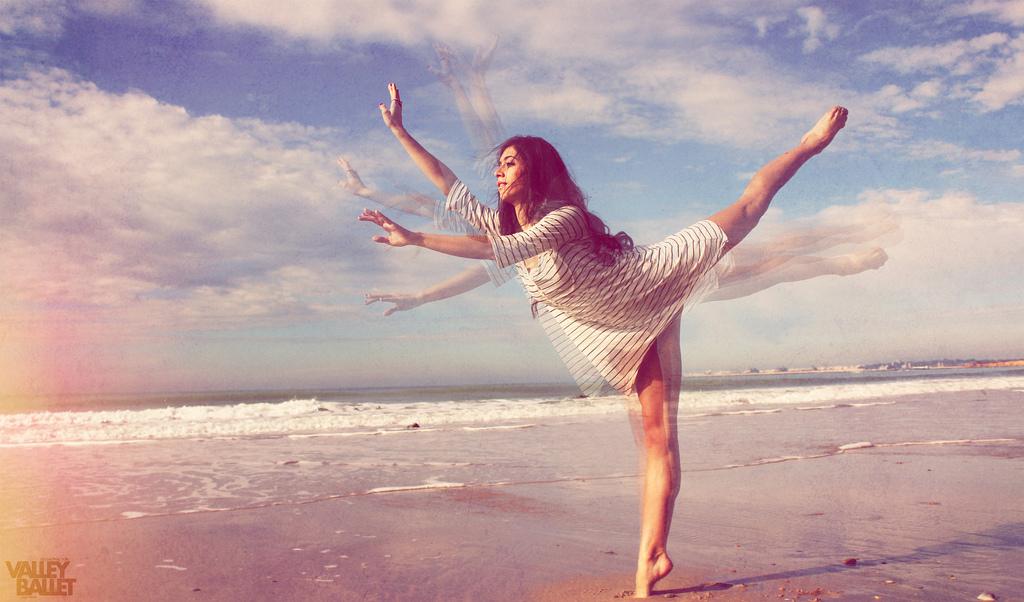 Schickes Foto-Set: Strandballett Valley-Ballet