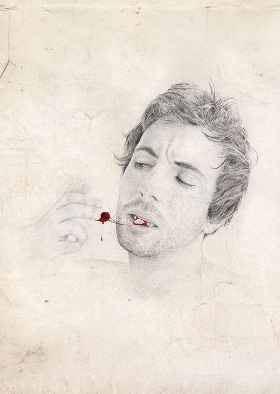 blutige Portraitzeichnungen: Dilly 5