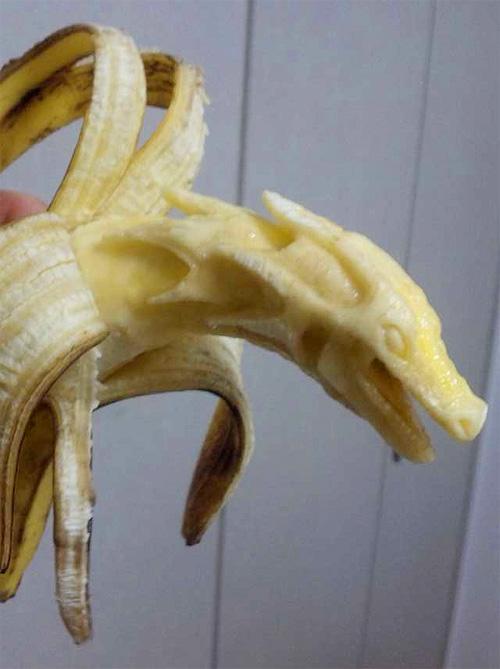 geschnitzte Bananen-Kunst