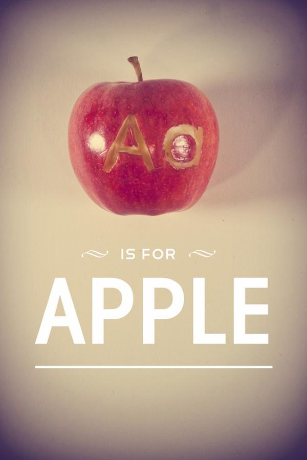 Das Lebensmittelalphabet typo_fruit_01