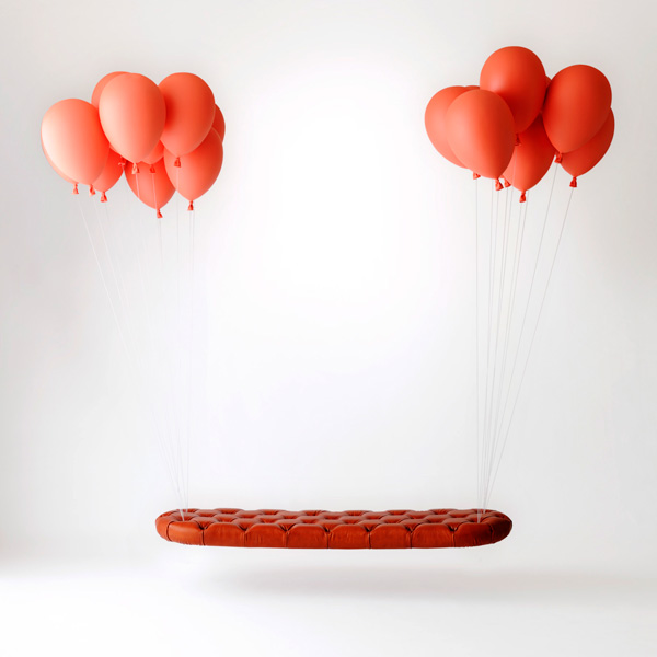 Balloon Bench: Die schwebende Bank balloon_bench