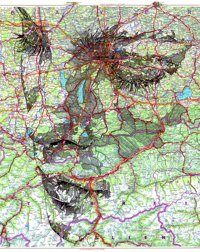 Portraits auf Landkarten gemalt maps-3