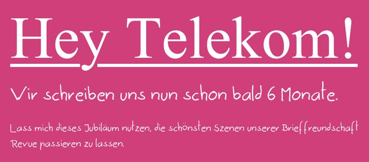 Hey Telekom!
