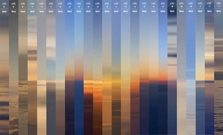 24 Stunden-Sonnenuntergang 24hour-sunset