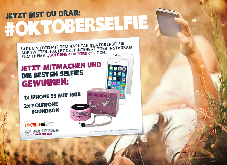 #Oktoberselfie: Gewinne ein iPhone 5s!