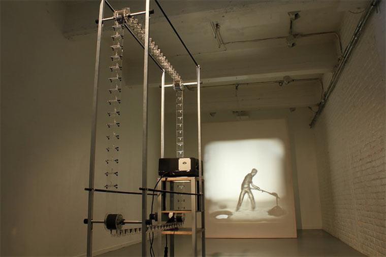 Filmprojektion aus 3D-gedruckten Figuren Julien-Maire_Relief_01