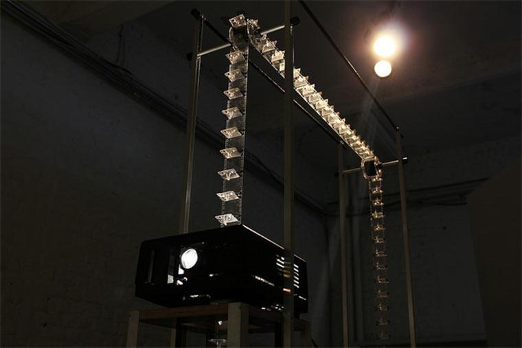 Filmprojektion aus 3D-gedruckten Figuren Julien-Maire_Relief_02