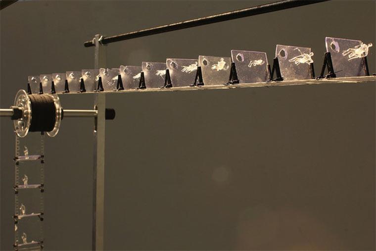 Filmprojektion aus 3D-gedruckten Figuren Julien-Maire_Relief_03