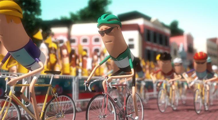 Die Überwindung eines Radrennens