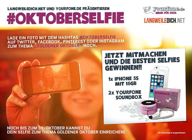 Reminder: mit Selfie iPhone 5s gewinnen!
