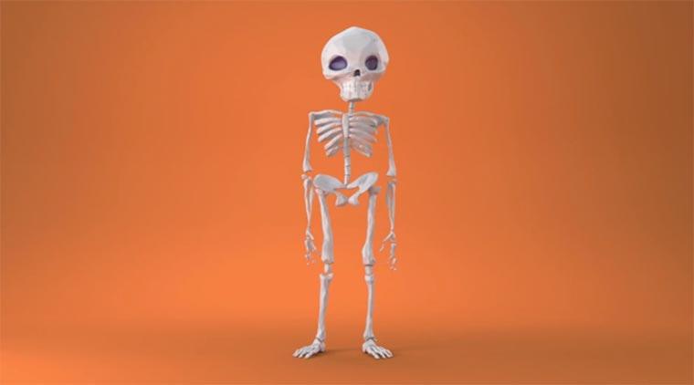 Als Skelett hat man es nicht leicht