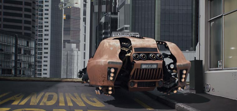 Ein Fahrschüler unter fliegenden Autos crash_course