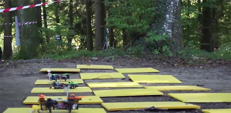Drohnen-Rennen aus der Bordperspektive drone-racing