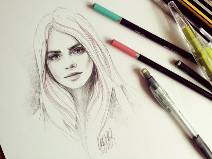 Zeichnungen: Katarzyna A. Kozłowska lady2art_02