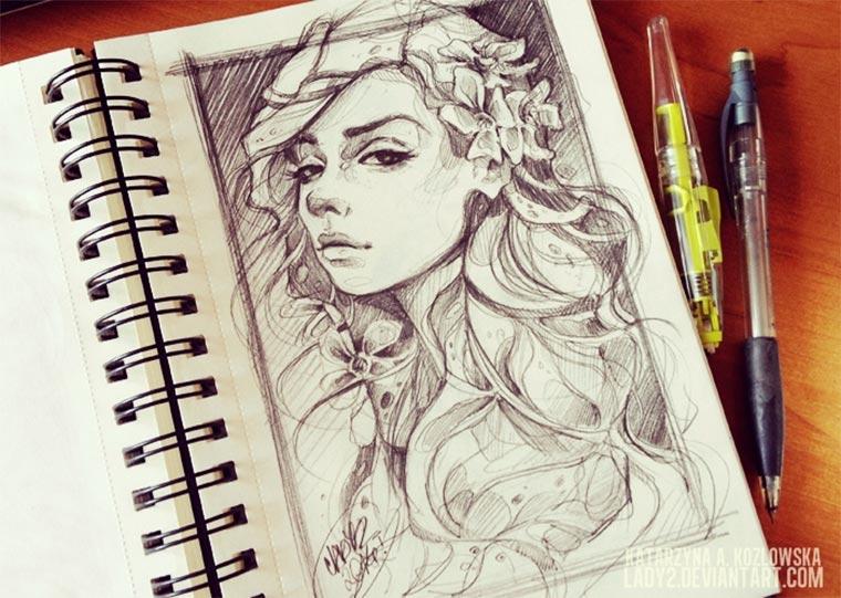 Zeichnungen: Katarzyna A. Kozłowska lady2art_04
