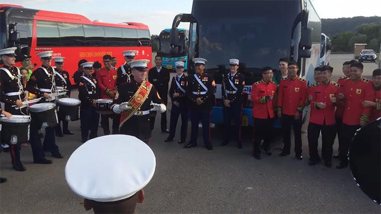 Drum Battle: US Navy vs. Südkorea Armee military_drum_battle