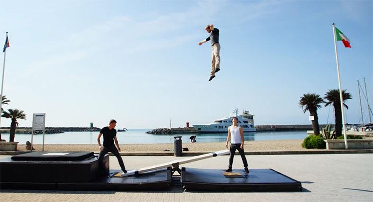 Wipp-Akrobatik