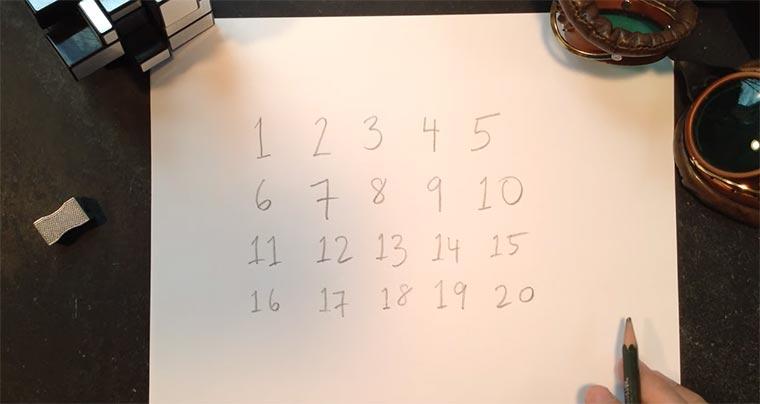 17 ist die willkürlichste Zahl