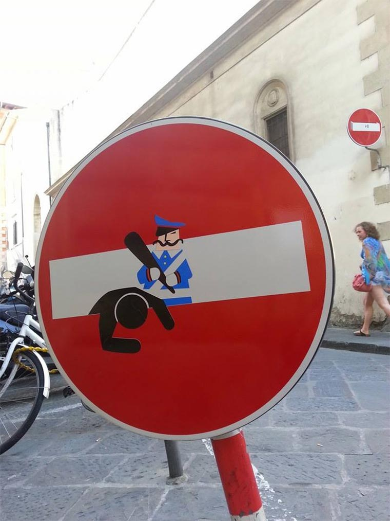 Schluss mit langweiligen Straßenschildern! Clet_Abraham_09