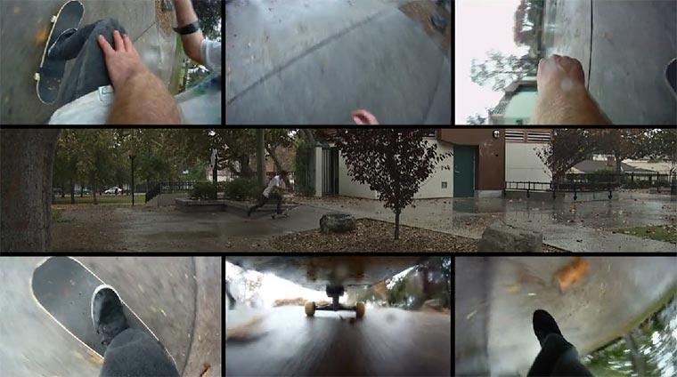 Skateboarden mit sechs Kameras Extremities