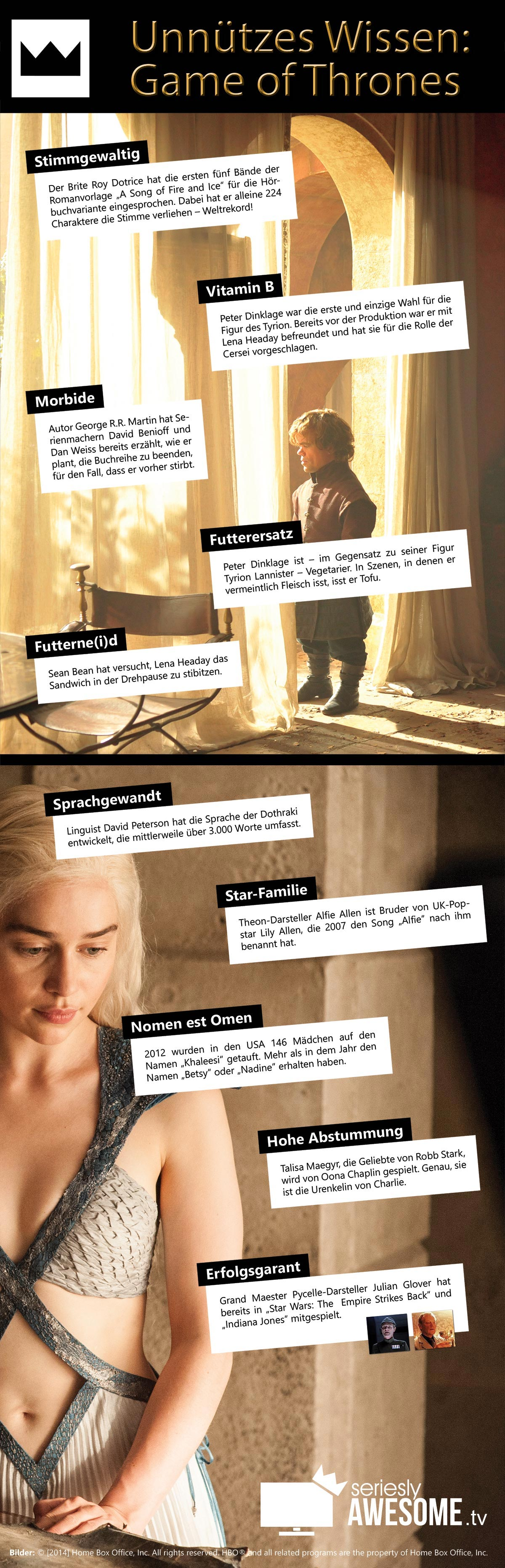 Unnützes Wissen zu Game of Thrones GoT-facts
