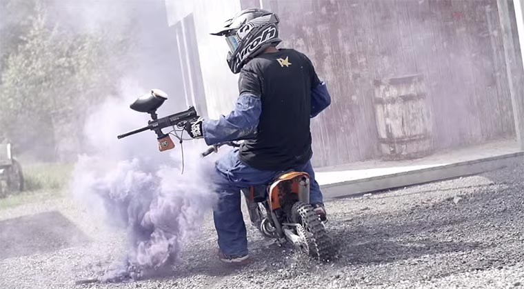 Motocross-Paintball