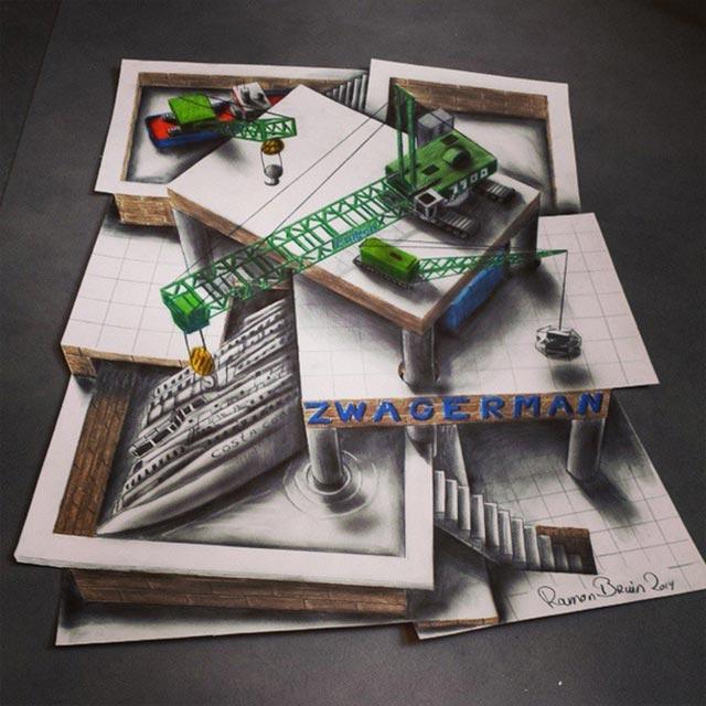 Vielschichtige 3D-Zeichnungen Multi-layered-illusions_03