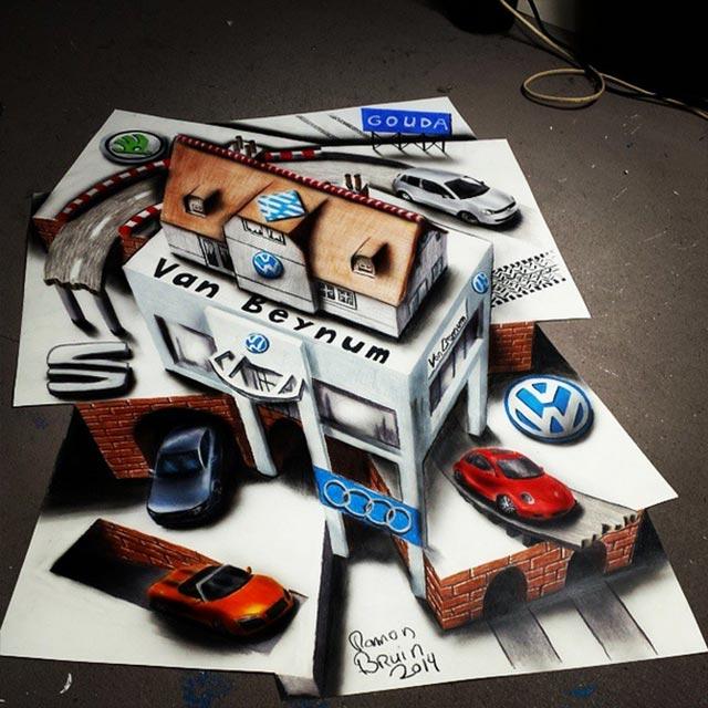 Vielschichtige 3D-Zeichnungen Multi-layered-illusions_06