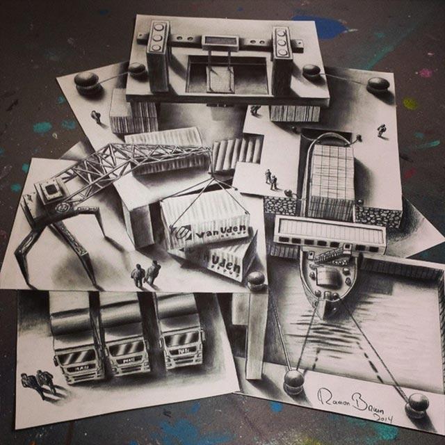 Vielschichtige 3D-Zeichnungen Multi-layered-illusions_07