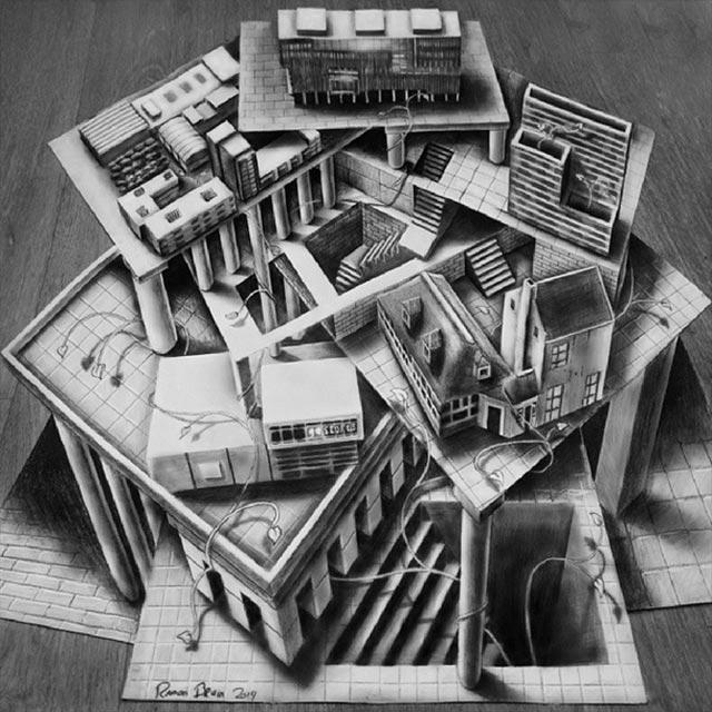 Vielschichtige 3D-Zeichnungen Multi-layered-illusions_09